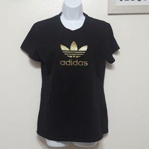 Adidas black w/gold Adidas emblem T-shirt sz XL